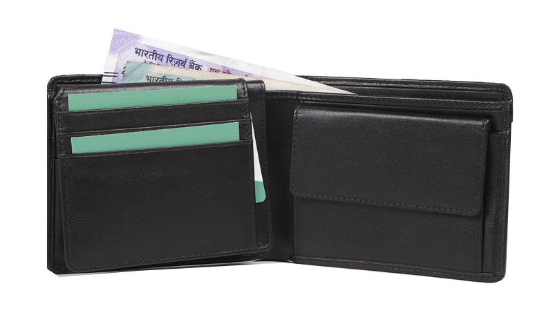 Mens Leather Foldable Wallet
