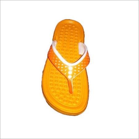 Orange White Kids Slipper