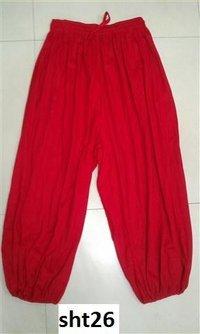 Cotton Plain Harem Pants