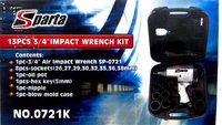 Sparta 3/4'' Air Impact Wrench Kit With 8 Sockets - Blow Case ( Sp-0721k)