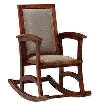 Wooden Rocking Chair In Honey Oak Finish.