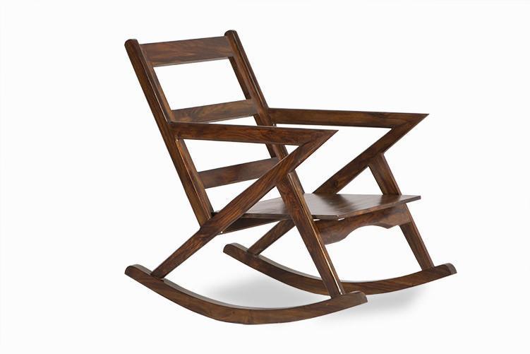 Solid Wood Rocking Sofa Chair