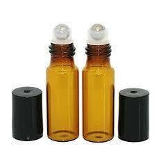 5ml Roll On - Roller Bottle Bottle /Metal Ball Thick Glass-Perfume Essential Oil