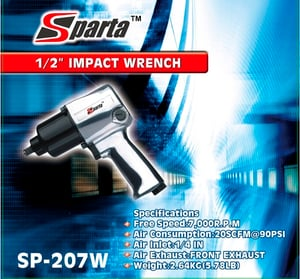 Sparta 1/2'' Air Impact Wrench - Twin Hammer (Sp-207w)