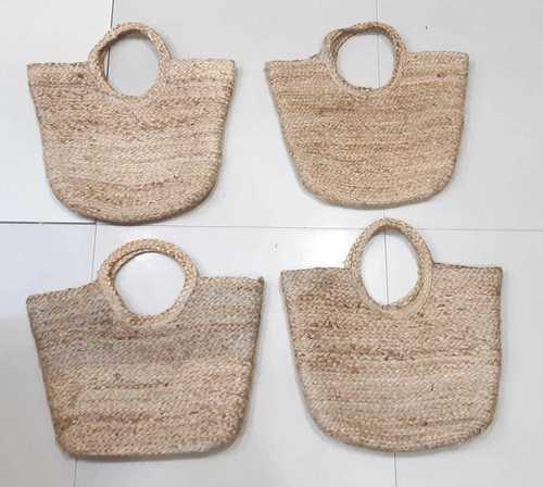 Hand Woven Structured Jute Beach Bag