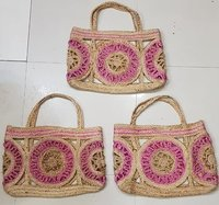 Women Beach Woven Tote Bag with Handle
