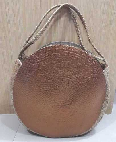 Hand Woven Beach Bag With Platinum Plated