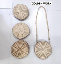 Jute Beach Bag With Long Straps