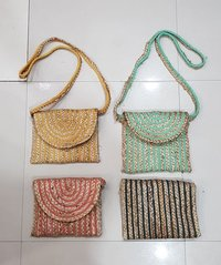 Hand Woven Structured Clutch Bag