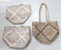 Jute Beach Printed Balti Bag