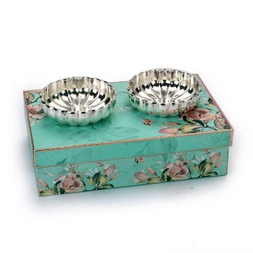 Fluted Design Silver Bowls Set of 2