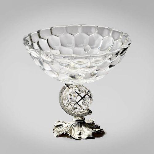 Glass Globe Silver Bowl