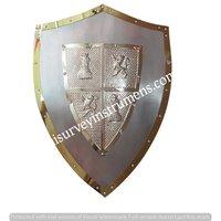 Medieval Shield European Knight Shields Real Steel Made Metal Cross Hand Held Decorative Shield