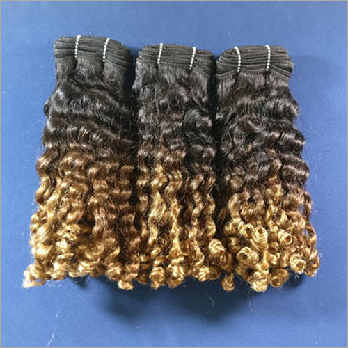 Ombre Colored Curly Hair Extension