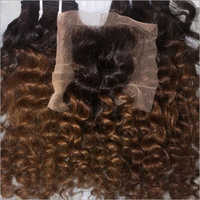 Ombre Curly Human Hair with Closure