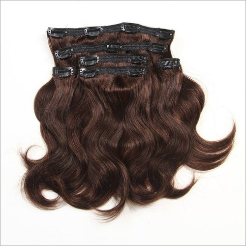 Clip-On Human Hair Extension Seven Piece