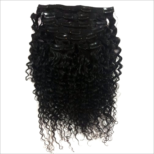 Curly Clip-on Human Hair Extension