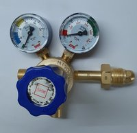 Misatu Make Oxygen Single Stage Brass Regulator, (Two Gauge)