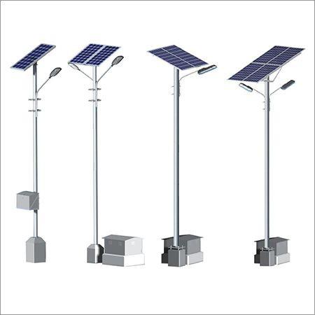 Solar Panel Light Pole Structure