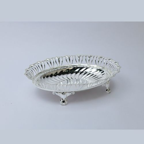 Oval Wire Silver Bowl, Size- Small