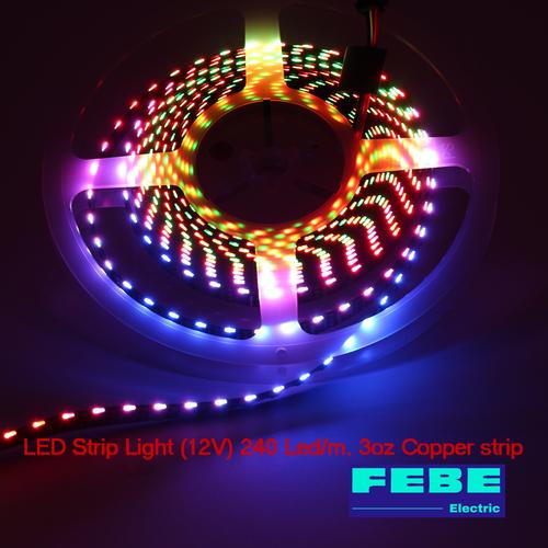 LED Strip Light 12v (240led/m), 3oz Cu Strip