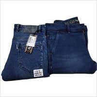 Mens Blue Casual Denim Jeans