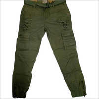 Mens Green Cargo Jeans
