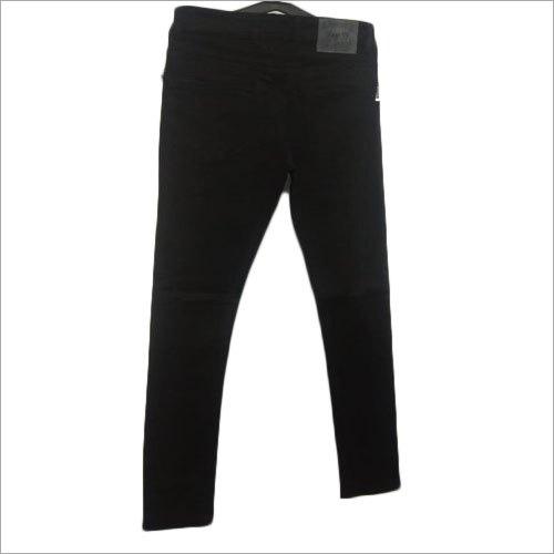 Mens Black Lycra Jeans