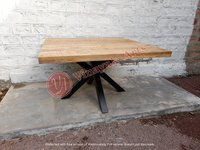 Square Spyder legs Dining Table