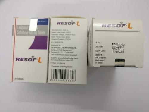 Resof - L Tablet(Lediavespir 90 mg + Sofososbuvir 400 mg)
