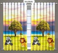long crush digital print curtains