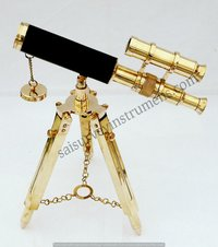 10 Inch Double Barrel Decorative Telescope With Stand