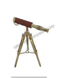 10 Inch Brass Telescope With Metal Stand