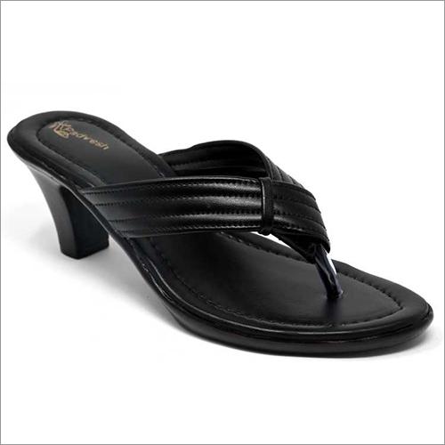 Ladies Black Casual  Wear Heels Sandals