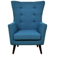 Blue Wing Chair