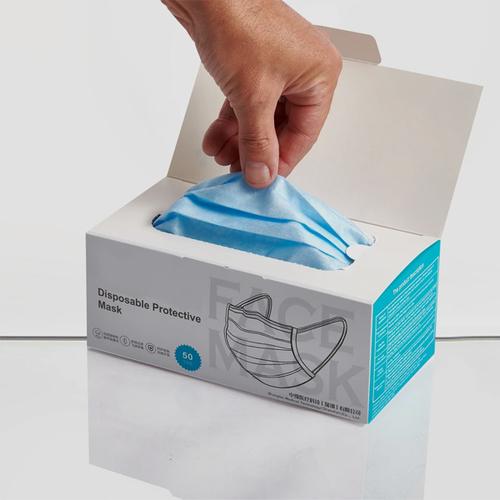 Duplex board Multicolor Face Mask Packaging Box