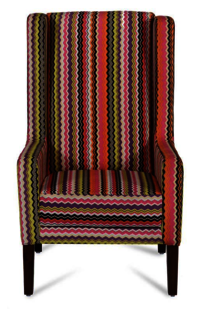 Multi-colour Wing Chair.