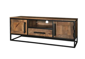 Mango Wood Industrial T.v. Stand.