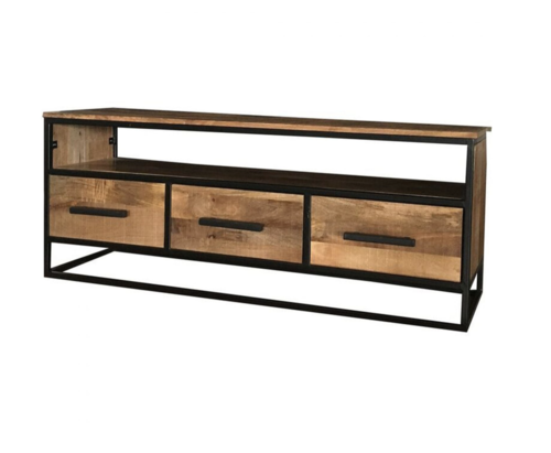 3 Drawer Industrial Style Tv Stand.