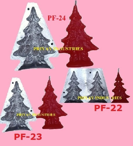 Christmas Tree designer Fancy Candle Mold