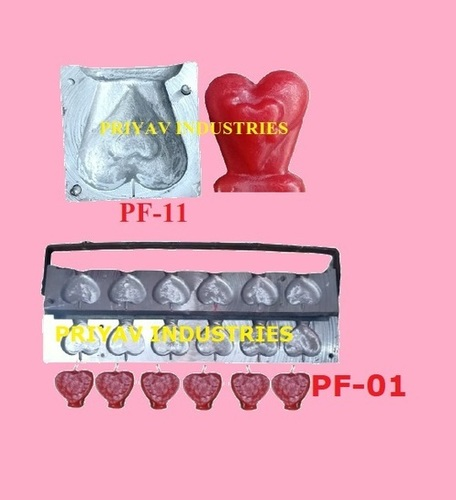 Heart Shape Designer Candle Mold