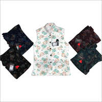 Netted Flower Print Imported Waistcoat
