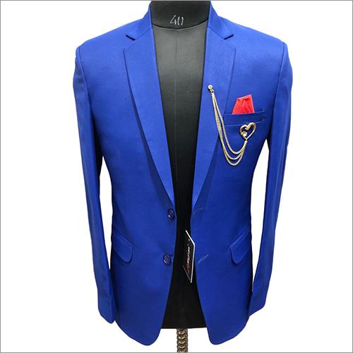 Solid B Plain Royal Blue Color Blazer