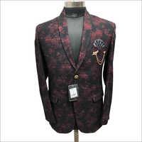 Tweed Printed Maroon Color Coat