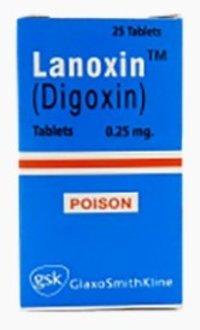 Lanoxin -digoxin- O.25 Mg 25 Tablets