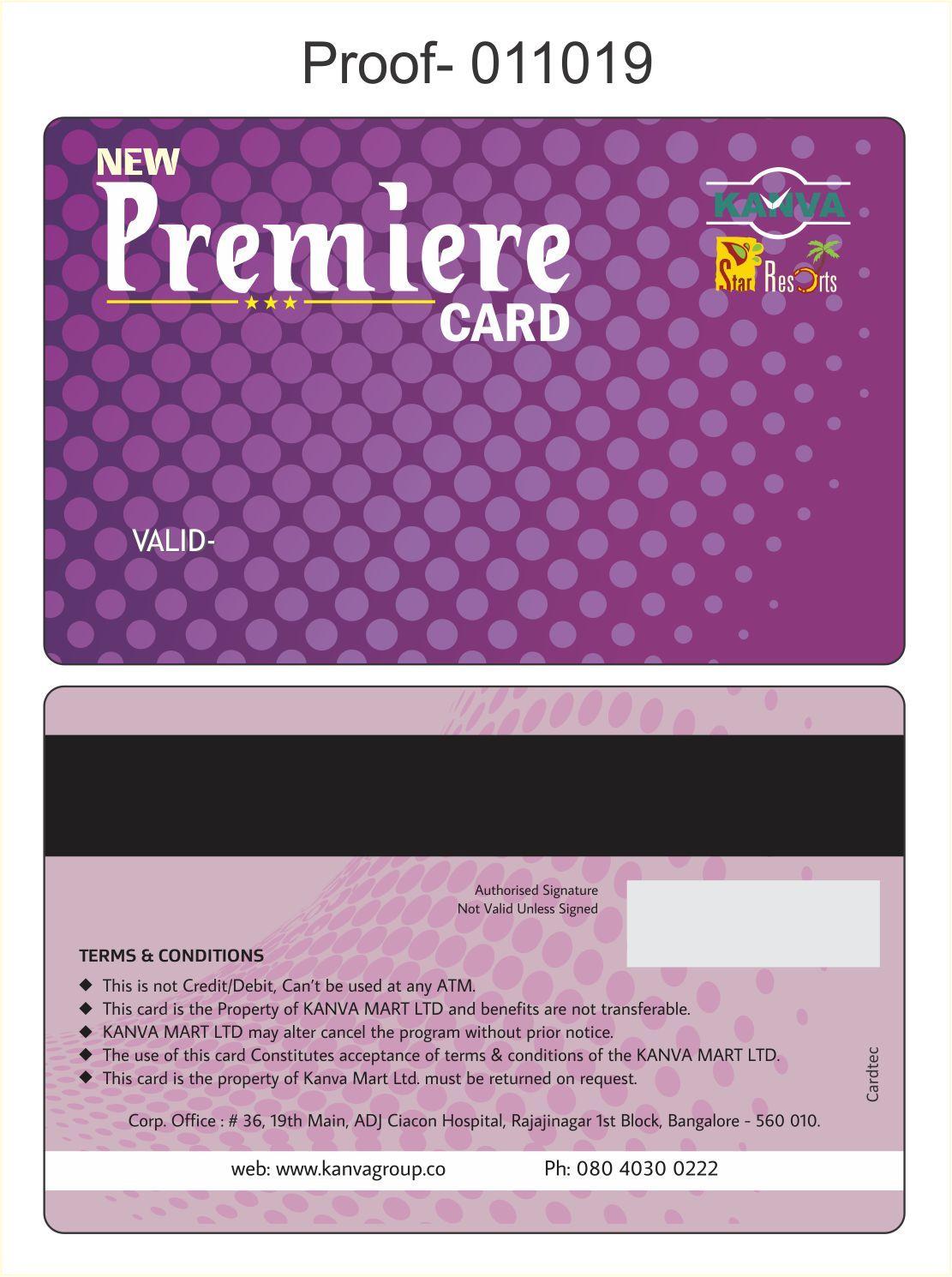 PVC MEMBERSHIP CARDS