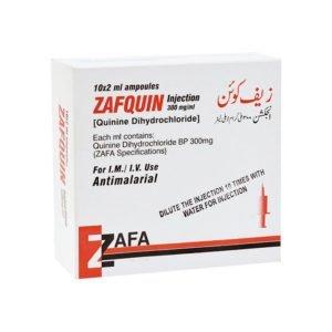 Zafquin Inj Quinine Dihydrochloride 300mg 10ampx2ml