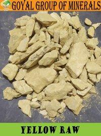 Yellow talc raw material