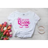 Selfie Queen White Summer T-Shirt