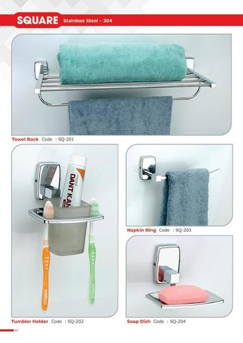 Square Bath Set SS (304)
